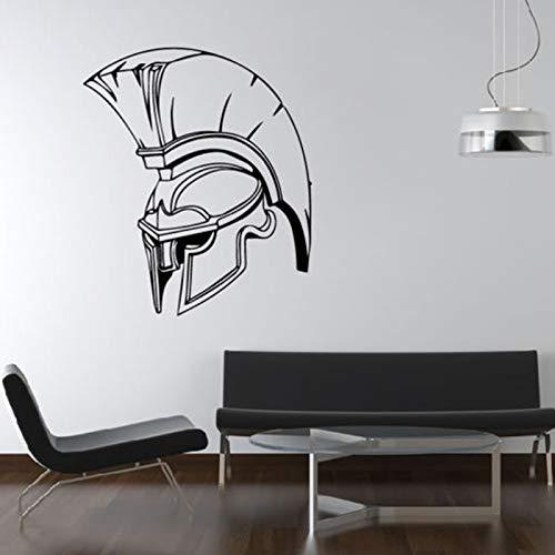 zqyjhkou Spartan Armee Helm Entfernbare Wandaufkleber Für Wohnzimmer Jungen Vinyl Tapete Aufkleber Schlafzimmer Kunst Dekoration Poster 1 57X66 cm