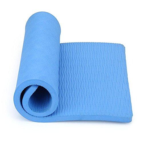 yoga ginocchiera, cuscino di ginocchio supporto protezione ginocchio mano gomito in tpe schiuma multifunzione per sport giardinaggio casa lavoro di auto 21 x 38 x 0.6 cm - blu