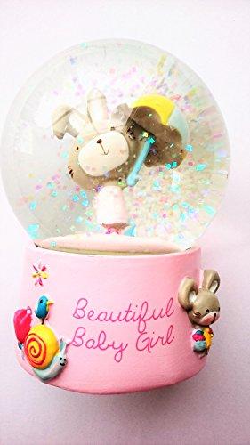Boule à neige « Beautiful Baby Girl » pour baptême ou nouveau-né
