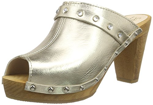 Sanita Polly Plateau Sandal, Sabots femme Or - Gold (Gold 12)