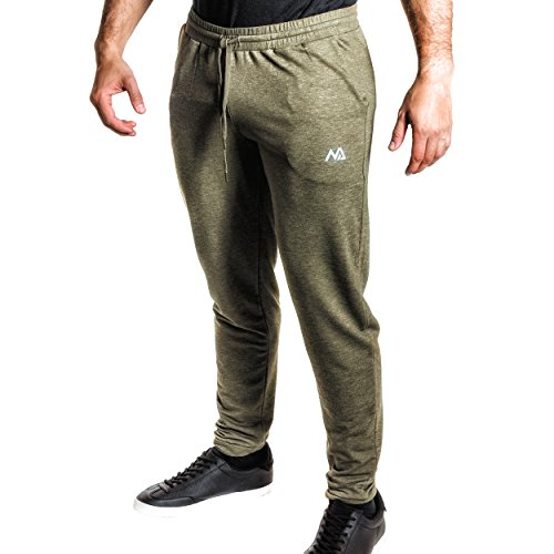 Natural Athlet Fitness Jogginghose meliert - Herren Männer optimal für  Fitnessstudio, Gym   Training - Trainigshose mit Passform Slim-Fit - Sport  ... 639d0254e6