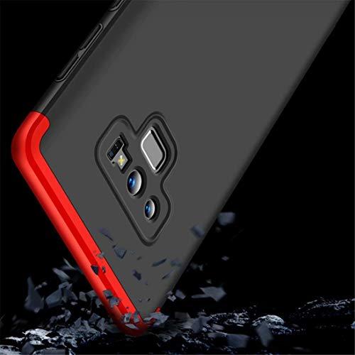 +morbido protezione dello schermo HD AILZH compatibile per Custodia Samsung Galaxy Note 9 Cover 360 gradi protettiva case PC Guscio duro Anti shock Bumper 360/° Matte caso paraurti Rosso nero