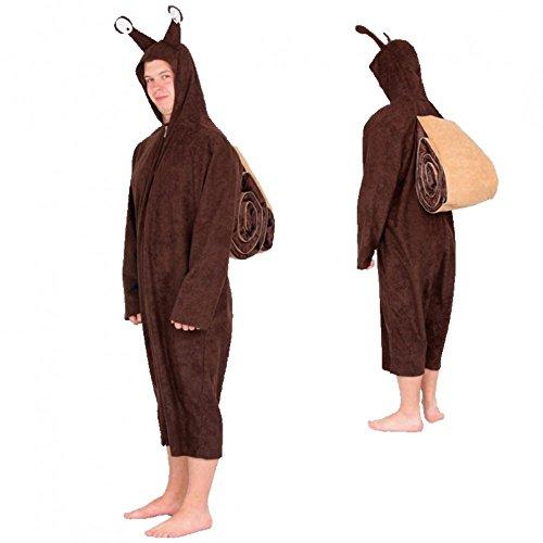 Kostüm Schnecke Gr. L/ XL Overall braun Tierkostüm Fasching (Kostüm Schnecke)