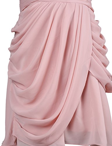Dressystar Robe femme,Robe de demoiselle d'honneur/soirée courte, en mousseline Blush