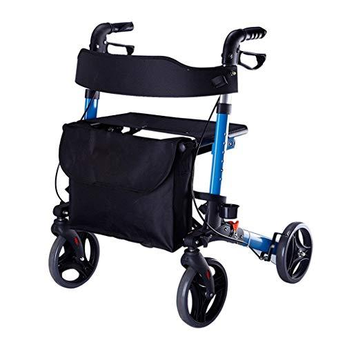 ALUK- Old Man Einkaufswagen Hand Push Roller Light Folding Grocery Shopping Cart KrüCken Walker