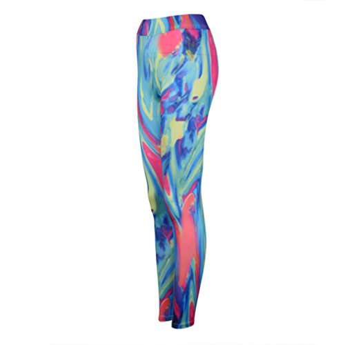 Pantalon de Yoga femmes,Jimma Femmes Yoga legging pantalon imprimé d'entraînement Gym Sports Running Pants pantalon de Fitness Multicolore