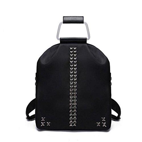Y&F Frau Oxford Tuch Reiserucksack Rucksack Schultertaschen Handtasche Black