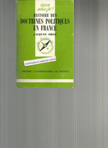 Histoire des doctrines politiques en Fra...