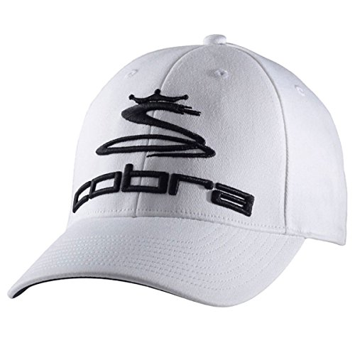 Cobra Herren Baseball Cap Gr. Medium / Large, Weiß - Weiß / Schwarz (Cobra Baseball)