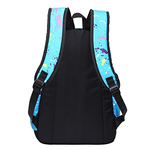 Esterno in nylon per il tempo libero zaino sportivo impermeabile doppia corsa borsa a tracolla 45*30*18cm, cerchio blu Cerchio blu