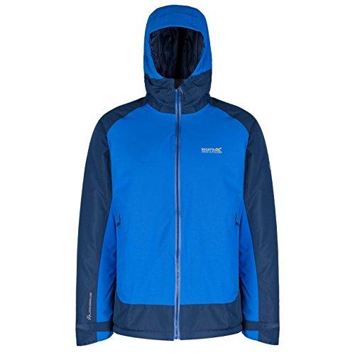 Regatta - Herren Jacke mit Kapuze in Blau oder Schwarz, Wasserdicht und Atmungsaktiv, Grisedale Hybrid (RMP205) Grisedale Hybrid (0HW)