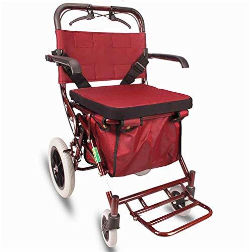 WLIXZ Bariatrischer Mobilitätsrollator von Medline für hohe Ansprüche, 4-Rad-Walker für Senioren, mit Sitz, faltendes Design Leichtgewicht