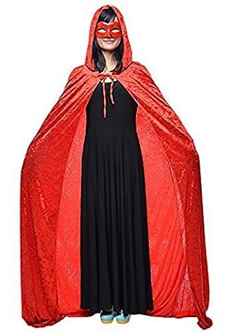 Adulte Femme Halloween - Halloween Cape à Capuche Poncho avec Capuchon