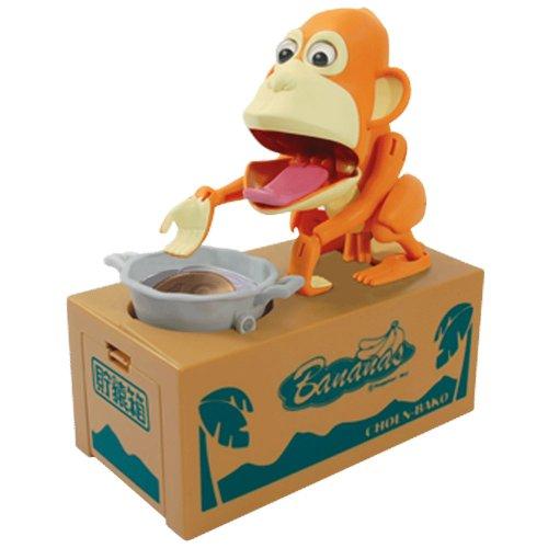 Choenbako Eating Monkey Piggy Bank (Pink)