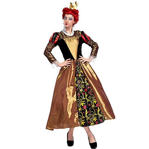 Alice Kostüm Im Geist Wunderland Halloween - kMOoz Halloween Kostüm,Outfit Für Halloween Fasching Karneval Halloween Cosplay Horror Kostüm,Alice Im Wunderland Cos Kostüm Vintage Palace Kostüm Halloween Queen Kostüm