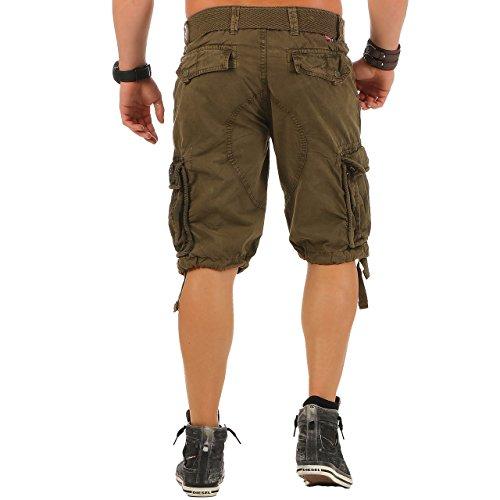 Geographical Norway Paragone Herren Cargo Shorts Bermuda Sommer kurze Hose Pants Khaki