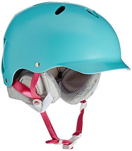 Shell Winter Liner (Bern Women 's Lenox Thin Shell Winter Helmet With Boa Liner-Satin Aqua/Grey, X-Small/Small by Bern)