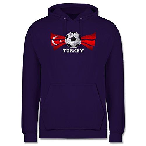 EM 2016 - Frankreich - Turkey Fußball Vintage - Männer Premium Kapuzenpullover / Hoodie Lila