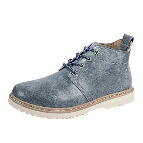 Beauté Top Bottes Hommes Martin Bottes Hautes Chaussures Hommes Casual Avec  Lacets En Dentelle Vintage Élégant fd27dd55206