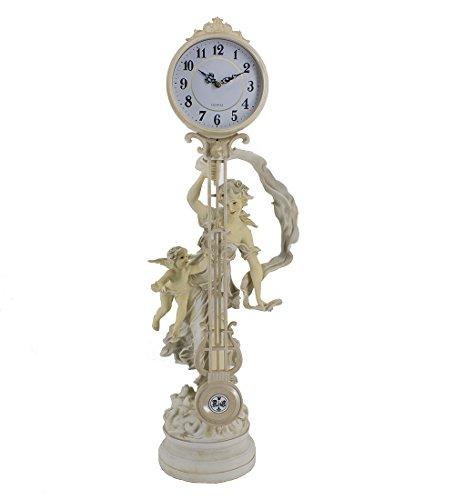 MASCARELLO Cherub Maidens Skulpturale Kaminuhr Swing Uhr Tisch Modernen Quarz Antik Uhr 74cm Hoch -