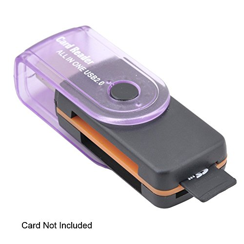 IndiSmack Rotating USB Multi Card Reader for SD MMC SDHC Cards with Warranty