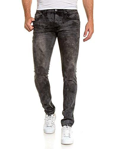 BLZ jeans - Jean schwarz großen Auswaschung Schwarz