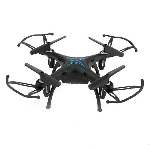 Hoody Drohne RC Quadcopter, FPV UFO Drohne 2.4G 6-Achsen-Headless-Modus-Fernbedienung Eine Schlüsselrückgabe und 3D-Flip RC-Hubschrauberflugzeug für Kinder und Anfänger (Schwarz)