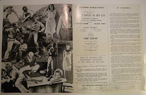 Dossier de presse de Le petit arpent du bon Dieu (1958) – Film d'Erskine Caldwell avec Robert Ryan, Aldo Ray -Photos N&B + résumé du scénario – Bon état.