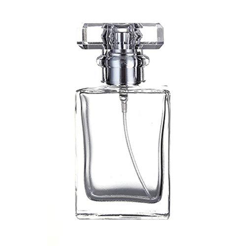 SEGRJ 30/50 ml tragbare Reise, quadratisch, Nachfüllflasche für Parfüm, Duftspray, Glas, Leere Flaschen für Reisen -