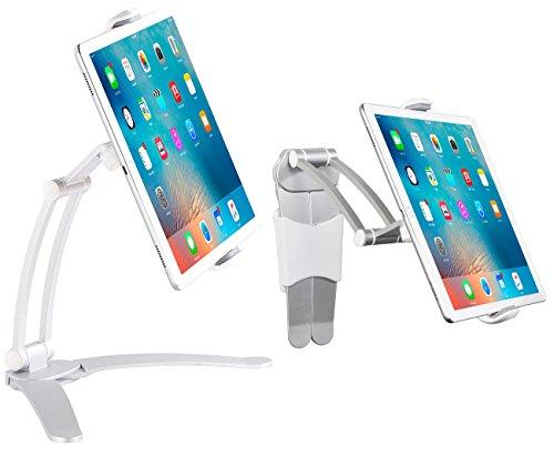 Callstel Tablet Halterung: Tisch-Ständer und Wand-Halter für iPads und Tablet-PCs bis 12,9