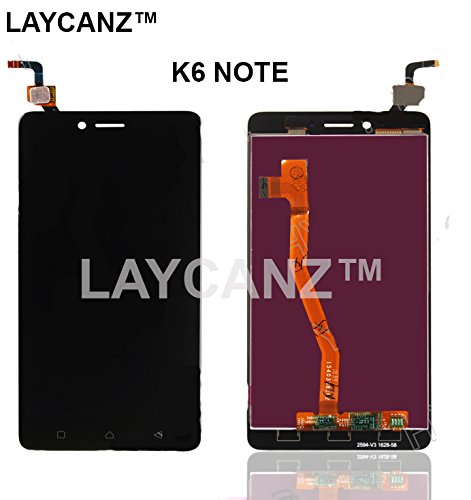 LAYCANZ Original. Lenovo Vibe K6 Note Black Display Screen + Touch Screen Glass Digitizer Assembly + Aluminium 5in1 Tools