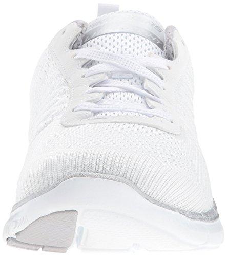 Skechers Flex Appeal 2.0 Break Free, Chaussures Multisport Outdoor Femme Blanc (Wsl)
