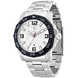 Timberland Men's Quartz Watch with Silver Dial Analogue Display and Silver Stainless Steel Bracelet TBL.13613JSSB/04M