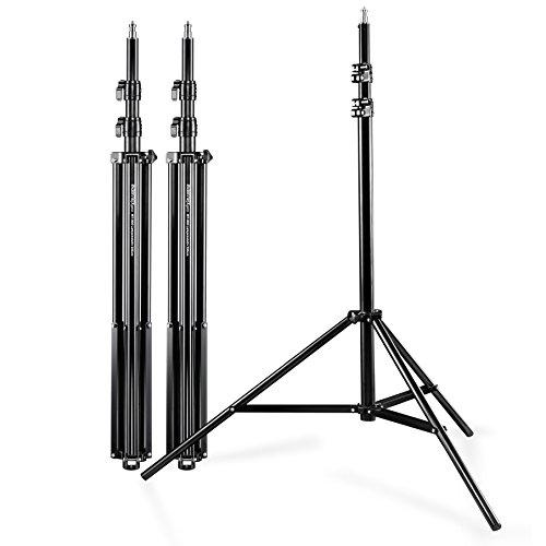 Walimex Pro WT-806 Lampenstativ 3er Set (max. Höhe 256 cm und Federdämpfung, inkl. 3 Transporttaschen)
