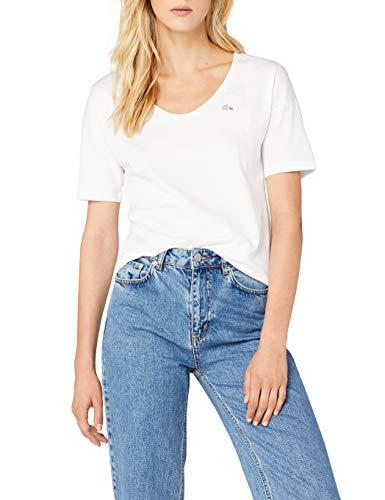 Lacoste Damen TF3049 T-Shirt, Weiß (Blanc 001), 36(Herstellergröße: 38)