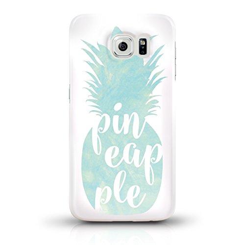 """JUNIWORDS Handyhüllen Slim Case für Samsung Galaxy S6 - Motiv wählbar - """"Majestätischer Hirsch"""" - Handyhülle, Handycase, Handyschale, Schutzhülle für Ihr Smartphone Ananas Design 3 Türkis"""