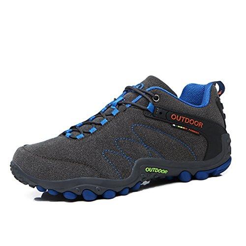 Unisex - Adultos Sapatos Ao Ar Livre Nobuk Macio E Confortável Ao Redor Dos Pés Anti-slide Sola De Borracha Botas Cinza Escuro