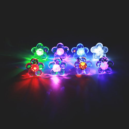 1 pezzo Halloween Plum Blossom Led Light Ear Stud Dance Party Accessories