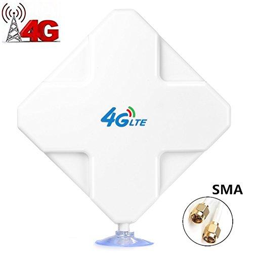SMA 4G Hochleistungs LTE Antenne, Dual Mimo 35dBi Netzwerk Ethernet Verstärker-Antenne Signalverstärker, Passend für Telekom Speedport LTE & LTE II, Vodafone B1000 & B2000, EasyBox 904, Vodafone LTE-Modem, LTE-Turbobox LG FM300, O2 LTE Router, Huawei E5372 E398 E3276 E392 E3272 E8278 R212 MF93 R215 B390, B593, DD800 etc (SMA) (Vakuum-verstärker)