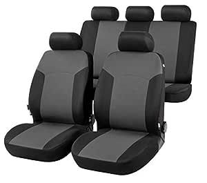 RMG R01V230 coprisedili compatibili per CLIO II fodere auto R01 neri grigi per sedili con airbag braciolo e sedili sdoppiabili