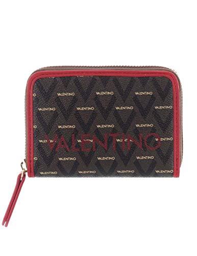 Valentino Portafoglio Donna Liuto Rosso Multicolore Marrone-Rosso marrone Taglia unica