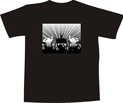 T-Shirt F1156 Schönes T-Shirt mit farbigem Brustaufdruck - Disco Welt Weiß