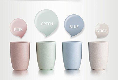 Tee-cup-set Für Kinder (Multicolor Biologisch abbaubar Unzerbrechlicher Weizen Stroh Wasser Cup Tasse Trommeln 14oz für Kaffee, Tee, Wasser, Milch, Saft, Set von 4)