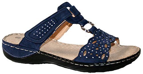 Ladies summer sandal by cushion walk. Comfortable fitting with touch close straps....