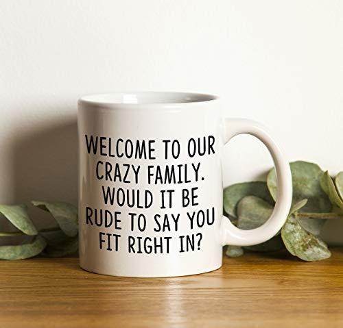 Willkommen zum Familiengeschenk Kaffeetasse/Kaffeebecher Keramik lustig Coffee Mug