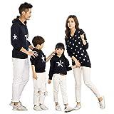 besbomig Familia papá Mamá Hija Hijo Sudaderas Camiseta de Manga Larga Sudadera mamá y bebé Ropa de Familia
