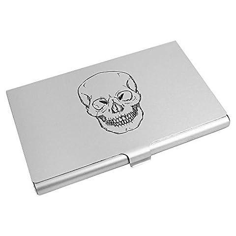 'Forward Facing Skull' Business Card Holder / Credit Card Wallet