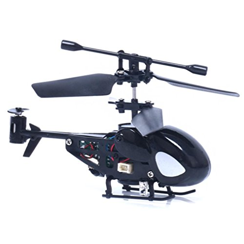 RC 5012 2CH Mini RC Helicopter Radio Remote Control Plane Micro 2 Channels by ASHOP (Black)