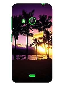 TREECASE Designer Printed Hard Back Case Cover For Microsoft Nokia Lumia 535