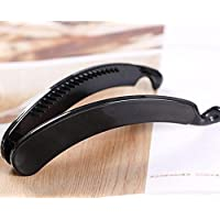 SHANF Plastic Hair Banana Clip Clamp Claw Grip 11cm Length Claw Hair Pin for Women Girls(Black)